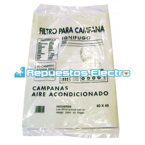 Filtro papel campana extractora universal 60 cm - Filtro campana extractora ...