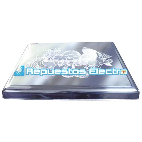 Cubre encimera cocina gas inox decorada for Encimera inox